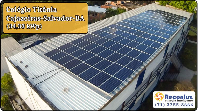 Energia Solar Salvador Bahia - Reconluz - Colégio Titânia