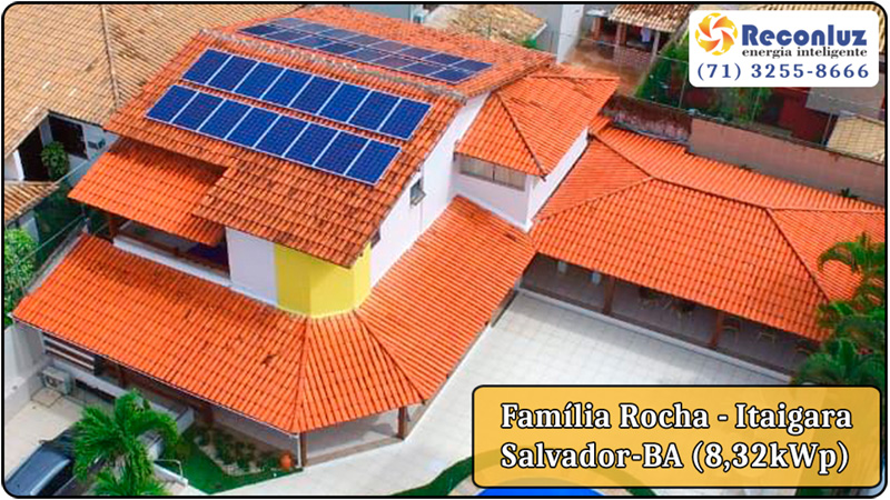Energia Solar Salvador Bahia - Reconluz - Família Rocha