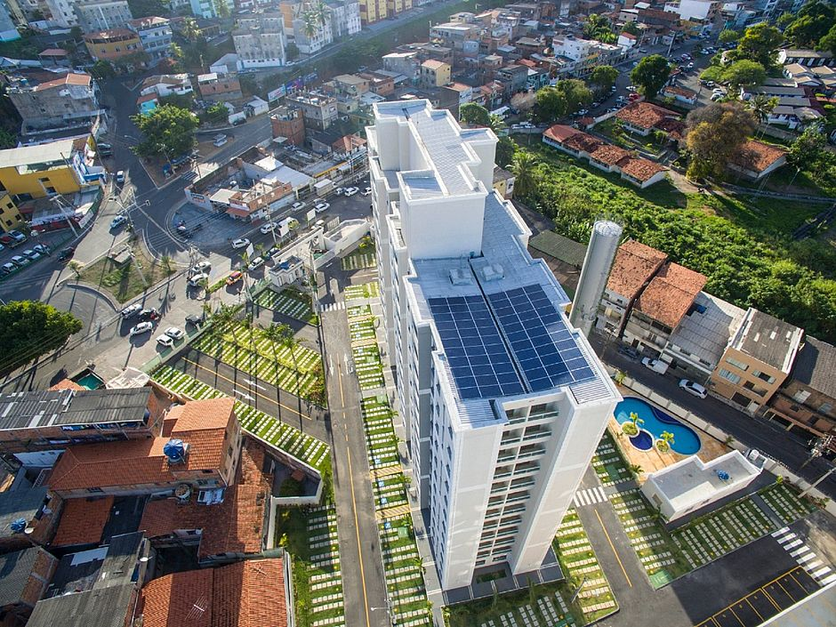 Spazio Solar do Parque, em Narandiba, estreou a energia solar nos empreendimentos da MRV. (Foto: Divulgação)