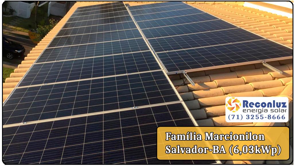 Energia Solar Salvador Bahia - Reconluz - Família Marcionilon