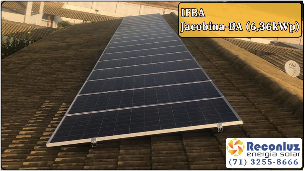 Energia Solar Salvador Bahia - Reconluz - Ifba Jacobina