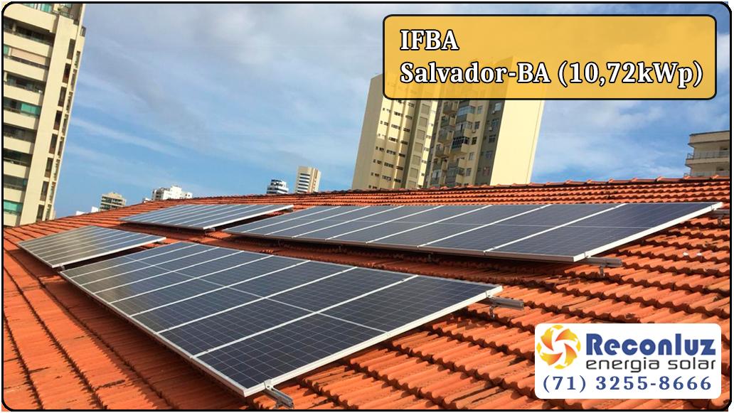 Energia Solar Salvador Bahia - Reconluz - Ifba Salvador