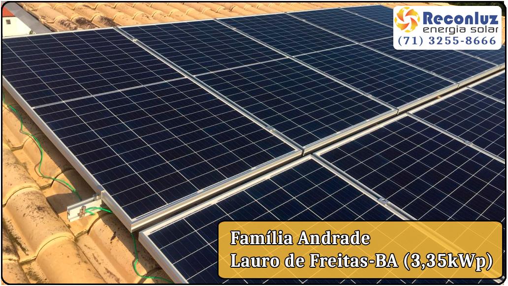 Energia Solar Salvador Bahia - Reconluz - Família Andrade