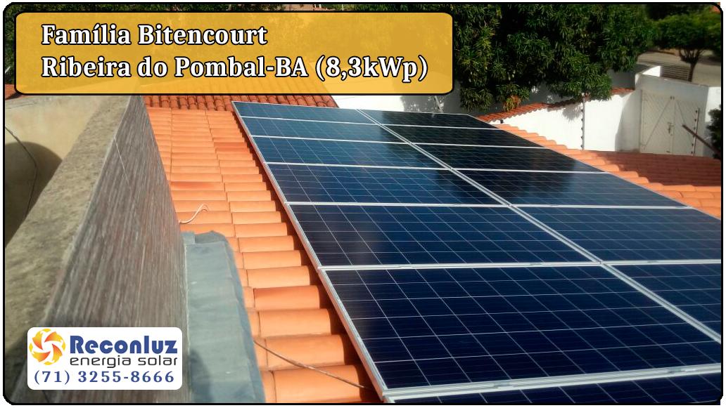 Energia Solar Salvador Bahia - Reconluz - Família Bitencourt