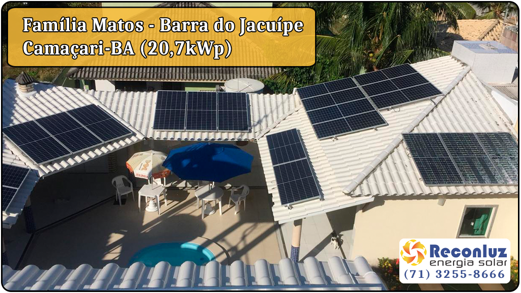 Energia Solar Salvador Bahia - Reconluz - Família Matos