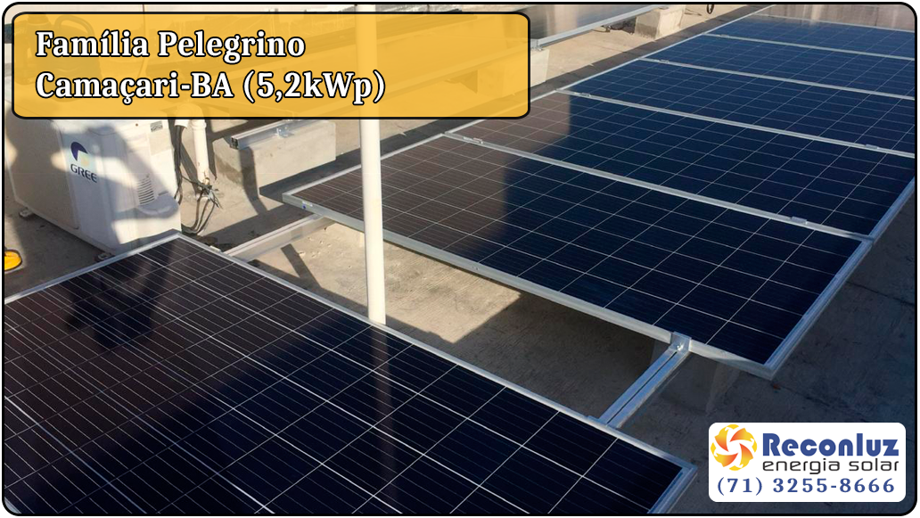 Energia Solar Salvador Bahia - Reconluz - Família Pelegrino