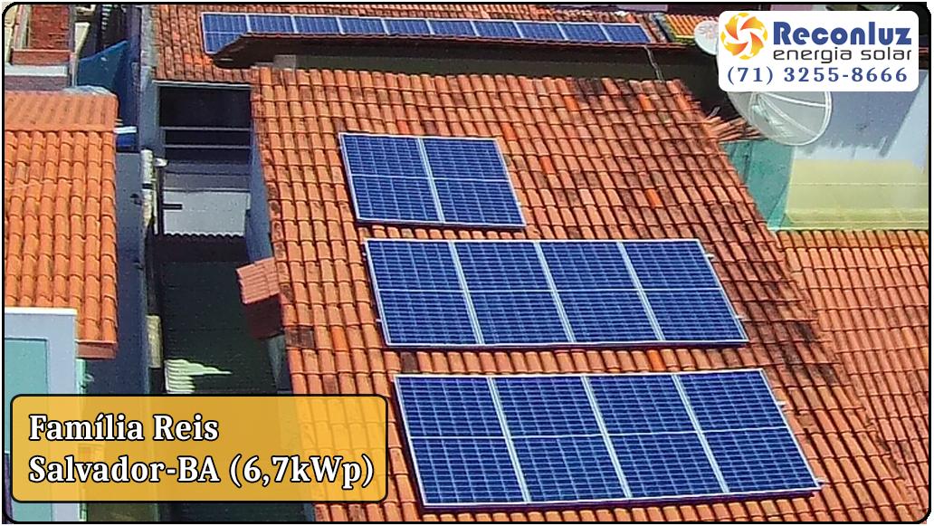 Energia Solar Salvador Bahia - Reconluz - Família Reis