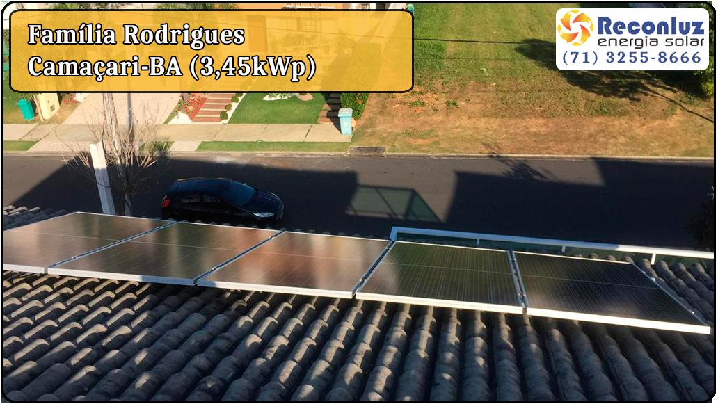 Energia Solar Salvador Bahia - Reconluz - Família Rodrigues