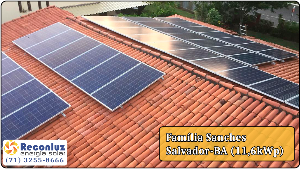 Energia Solar Salvador Bahia - Reconluz - Família Sanches