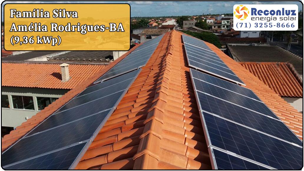 Energia Solar Salvador Bahia - Reconluz - Família Silva