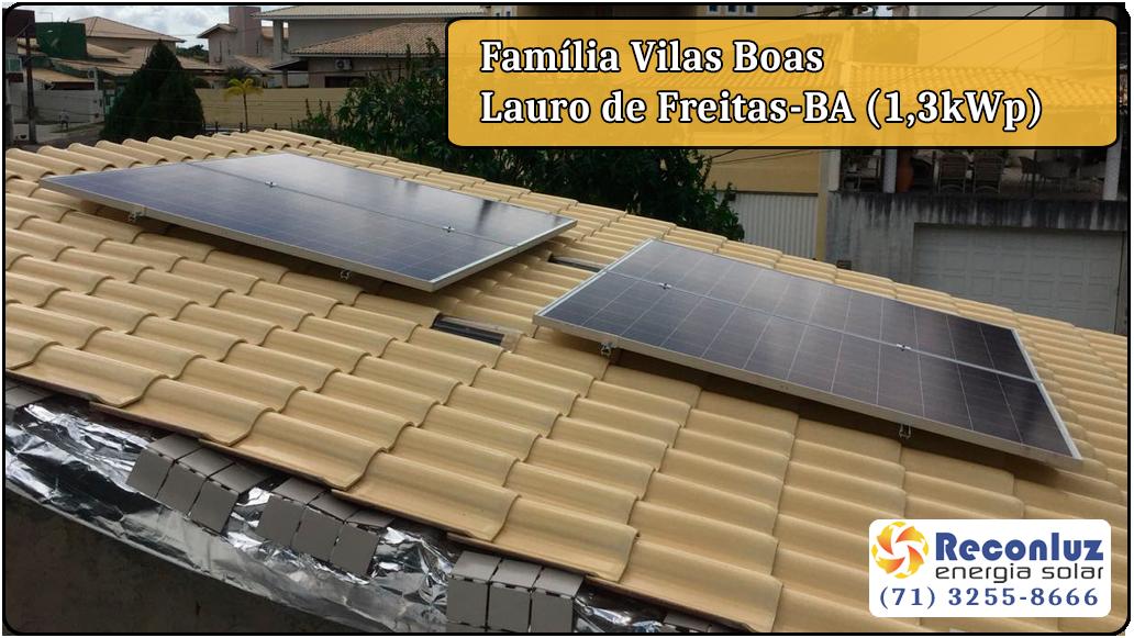 Energia Solar Salvador Bahia - Reconluz - Família Vils Boas
