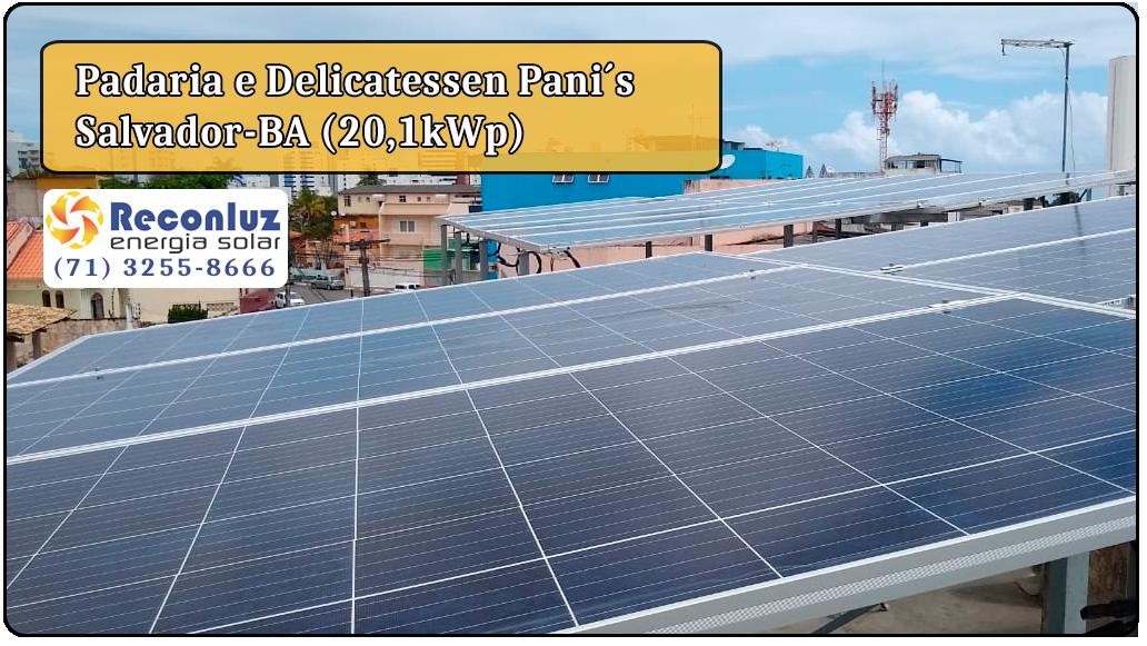 Energia Solar Salvador Bahia - Reconluz - Padaria Panis