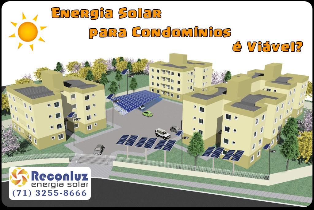Energia Solar para Condomínios - Reconluz, Energia Solar Salvador