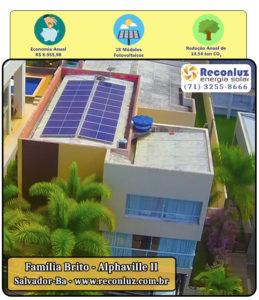 Energia Solar Salvador Bahia - Reconluz - Família Brito