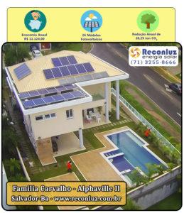 Energia Solar Salvador Bahia - Reconluz - Família Carvalho