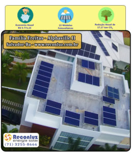 Energia Solar Salvador Bahia - Reconluz - Família Freitas