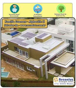 Energia Solar Salvador Bahia - Reconluz - Família Guanaes