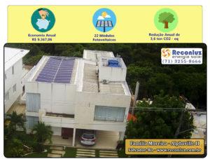 Energia Solar Salvador Bahia - Reconluz - Família Moreira
