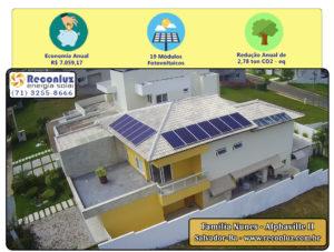 Energia Solar Salvador Bahia - Reconluz - Família Nunes