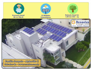 Energia Solar Salvador Bahia - Reconluz - Família Sampaio