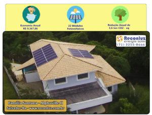 Energia Solar Salvador Bahia - Reconluz - Família Santana