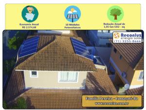 Energia Solar Salvador Bahia - Reconluz - Família Pereira