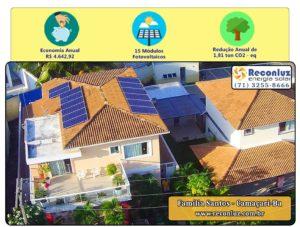 Energia Solar Salvador Bahia - Reconluz - Família Santos