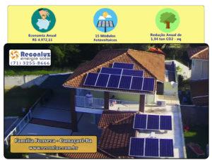 Energia Solar Salvador Bahia - Reconluz - Família Fonseca