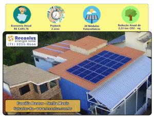 Energia Solar Salvador Bahia - Reconluz - Família Bastos