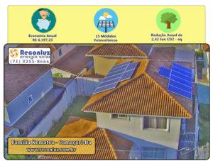 Energia Solar Salvador Bahia - Reconluz - Família Komatsu