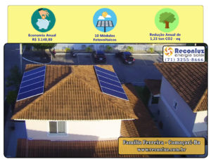 Energia Solar Salvador Bahia - Reconluz - Família Ferreira