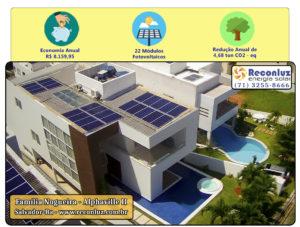 Energia Solar Salvador Bahia - Reconluz - Família Nogueira