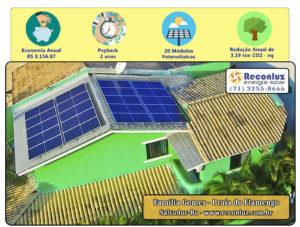 Energia Solar Salvador Bahia - Reconluz - Família Gomes