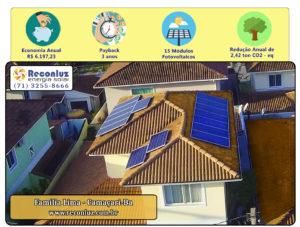 Energia Solar Salvador Bahia - Reconluz - Família Lima
