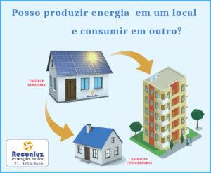 Consumo Remoto de Energia Solar Fotovoltaica - Energia Solar Salvador Bahia - Reconluz
