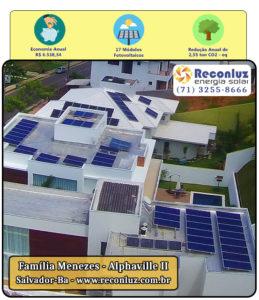 Energia Solar Salvador Bahia - Reconluz - Família Menezes