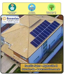 Energia Solar Salvador Bahia - Reconluz - Família Sales