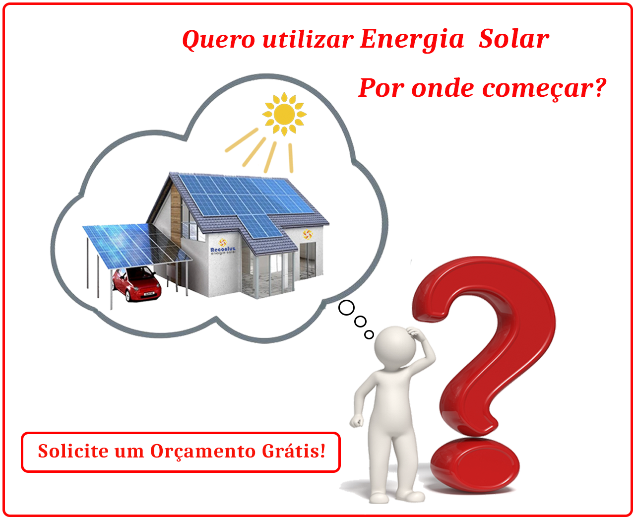 Por onde começar - Reconluz Energia Solar Salvador Bahia